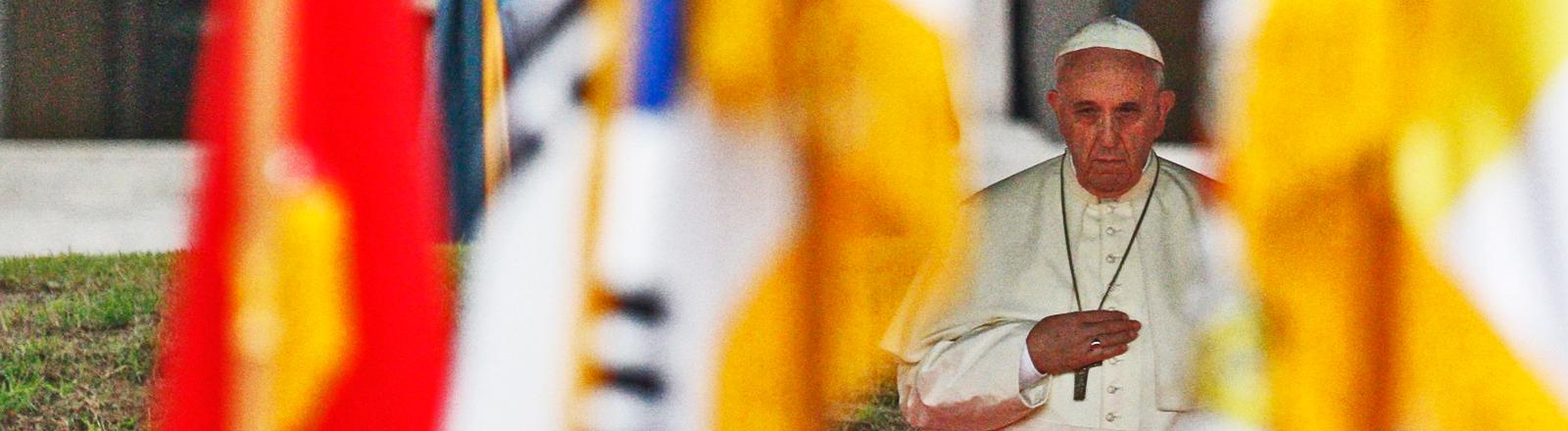 Papst Franziskus ist zu Besuch in Südkorea (August 2014 / dpa).