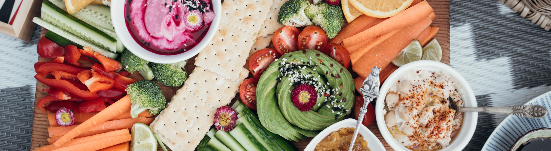 Gemüse und vegane Lebensmittel
