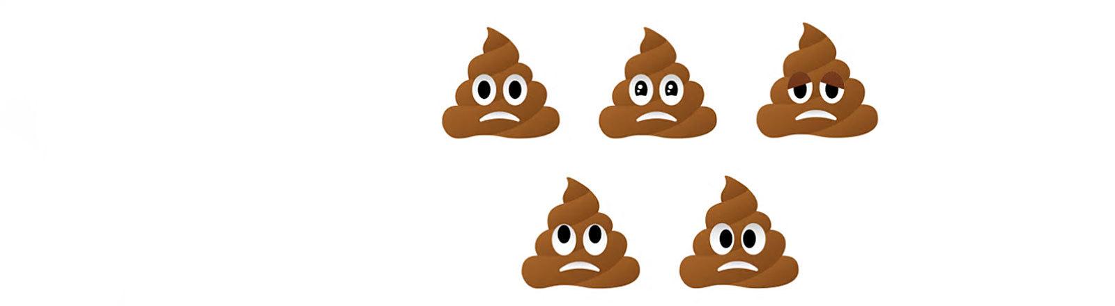 """""""Frowning Pile Of Poo"""" Emojis"""