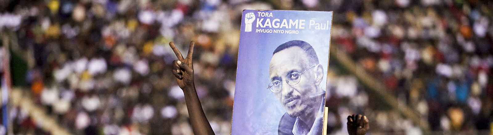 Anhänger des ruandischen Präsidenten Paul Kagame