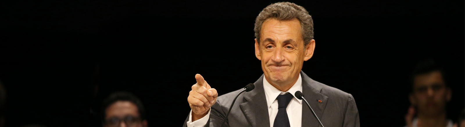 Nicolas Sarkozy bei einer Rede