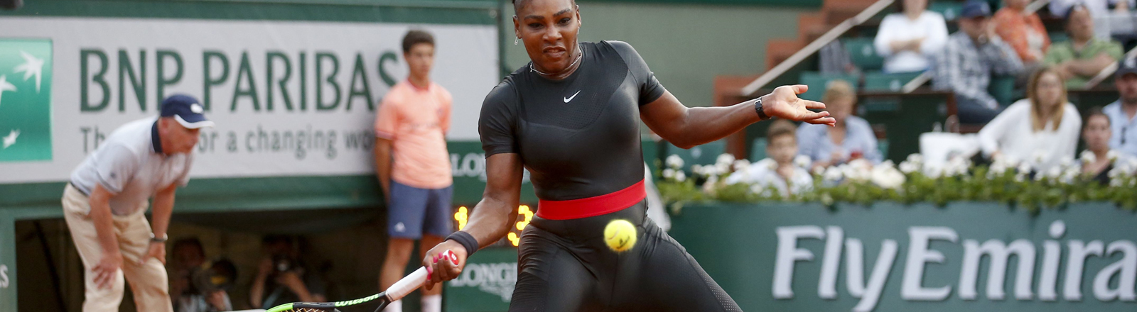 Serena Williams im Catsuit bei den French Open 2018