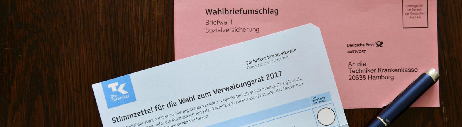Wahlunterlagen zur Sozialwahl 2017