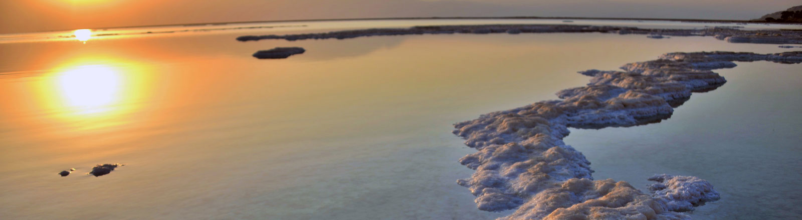 Totes Meer im Sonnenuntergang