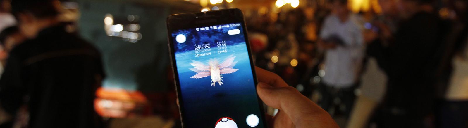 Pokemon Go auf einem Handy