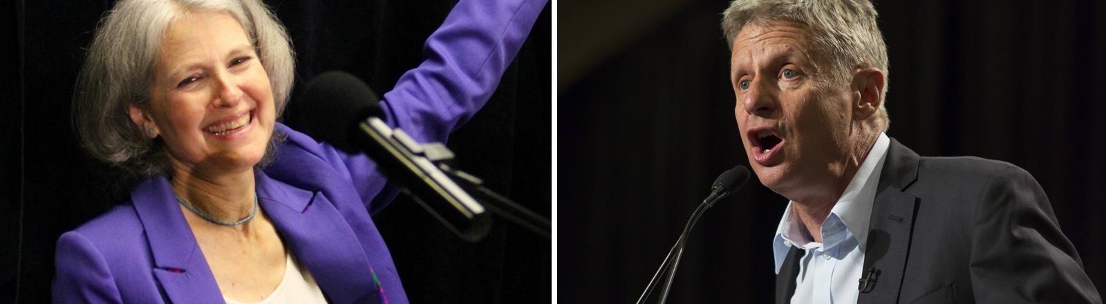 Bildmontage: Jill Stein und Gary Johnson