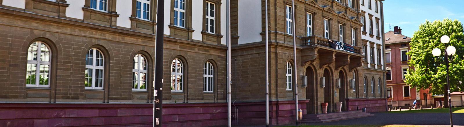 Gebäude am Universitätsplatz der Uni Gießen.