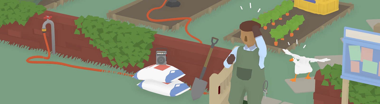 Screenshot des Indie-Games Untitled Goose Game