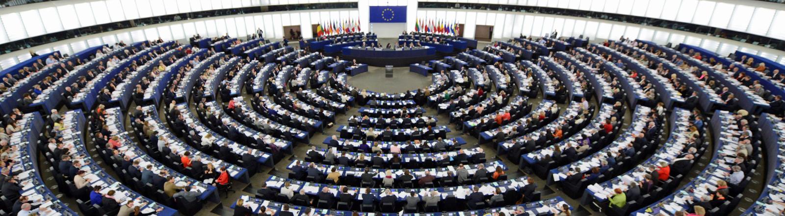 Das Europäische Parlament in Straßburg am 15.04.2014.
