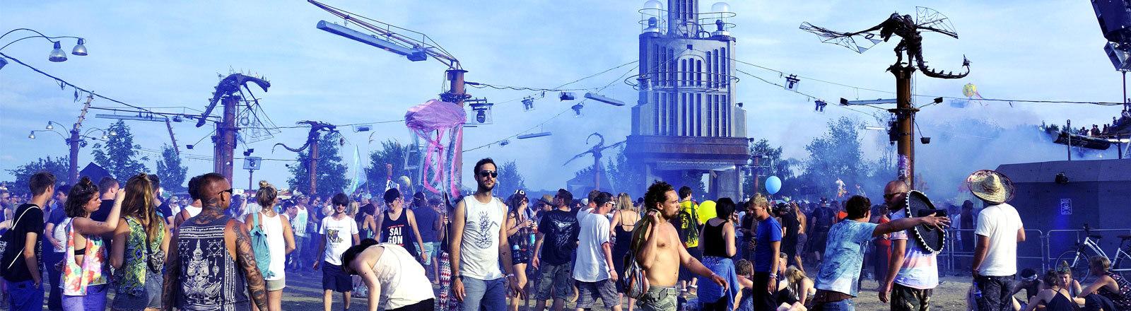 Feiernde beim Fusion-Festival 2016