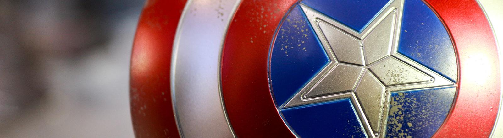 Das Schild des Marvel-Charakters Captain America.