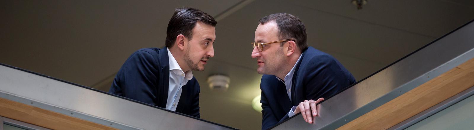 Paul Ziemiak, Vorsitzender der Jungen Union  und Jens Spahn
