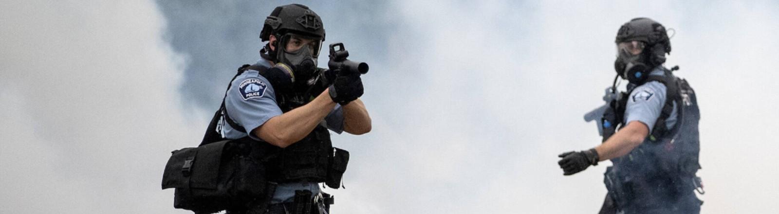 Polizistin in Minneapolis am 26. Mai 2020