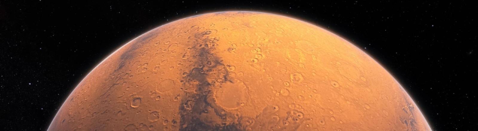 Ein Blick auf den Mars aus weiter Ferne