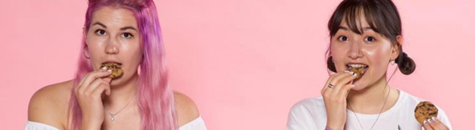 Lisa und Parnian vom Podcast K-Pop Pardon.