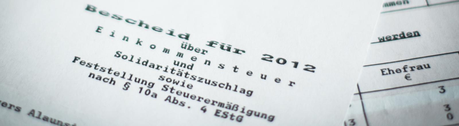 Behördendeutsch: Amtssprache im Steuerbescheid