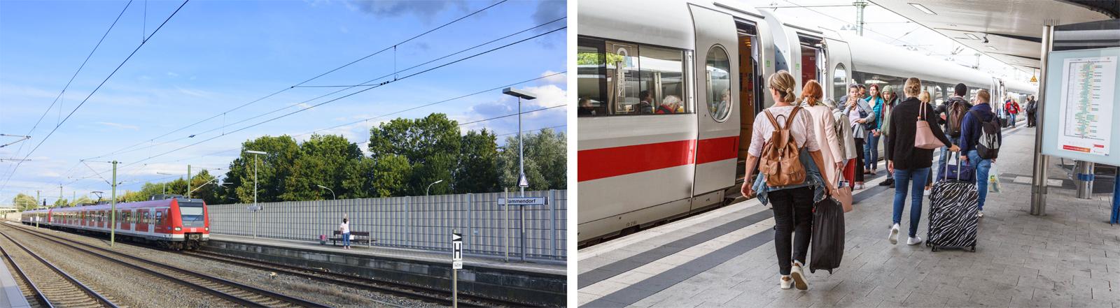 Bahnreisende Ende August 2018 auf dem Bielefelder Hauptbahnhof
