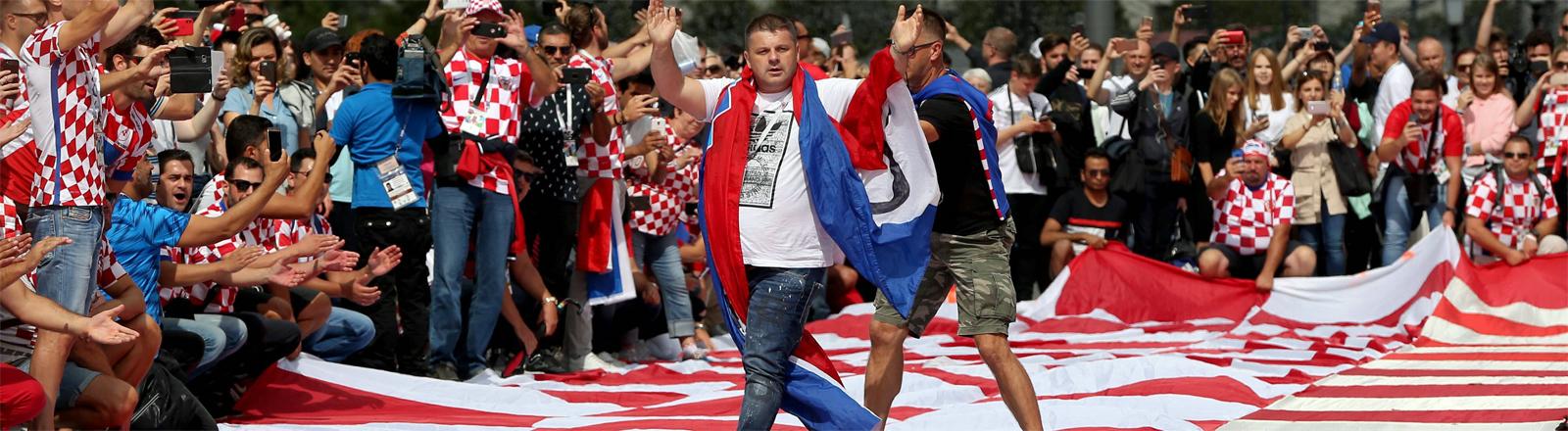 Kroatische Fans während der WM 2018 in Moskau