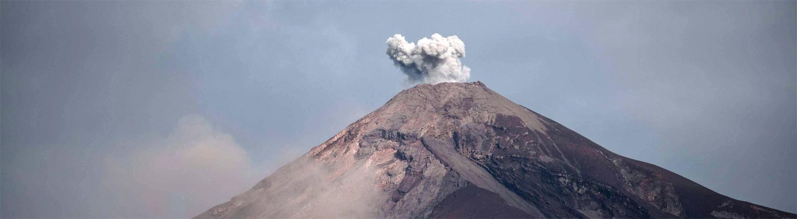 Der Volcán de Fuego am 6. Juni 2018