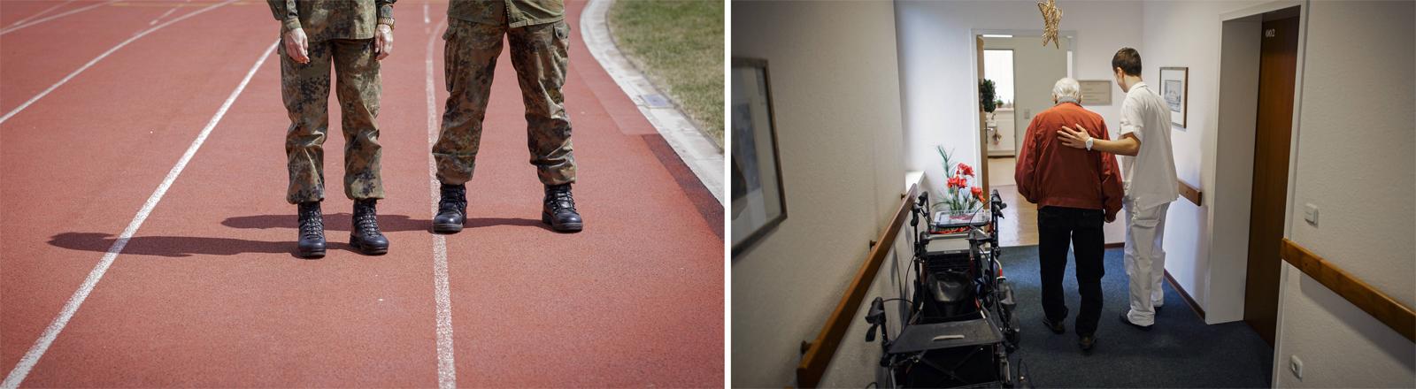 Sozialdienst oder Wehrdienst: Die Personalprobleme bei der Bundeswehr lassen eine alte Diskussion wieder aufleben.