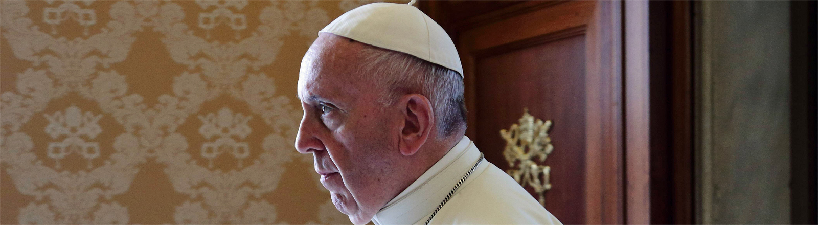 Papst Franziskus bei einem Treffen mit dem Präsidenten von Montenegro am 8. Oktober 2018 im Vatikan
