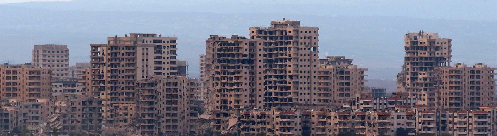 Homs im Oktober 2015: zerstörte Wohngebäude