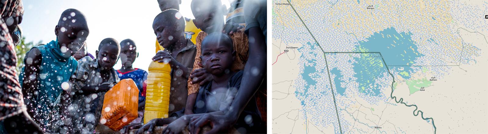 Flüchtlinge in Maiduguri in der Tschadseeregion im März 2017