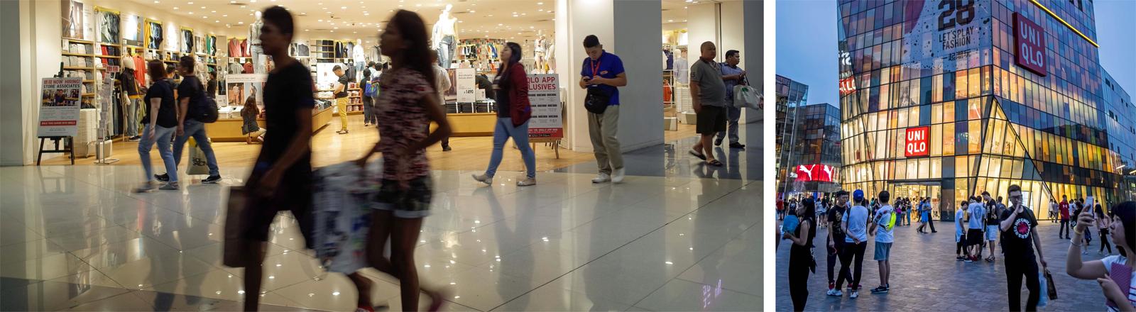Uniqlo-Shops in Asien