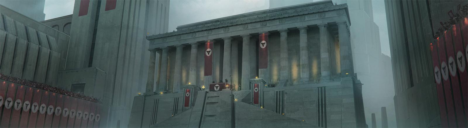 Hier wurden die Hakenkreuze ersetzt: Berlin-Szene aus dem Spiel Wolfenstein II