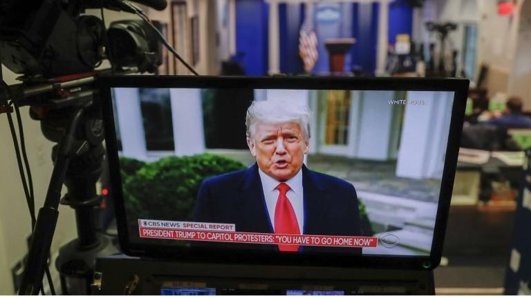 Öffentlich bei Twitter: Donald Trumps Videobotschaft vom 06.01.2021