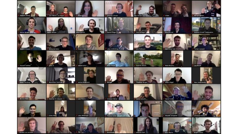 Screenshot der Team-Mitglieder im Chat