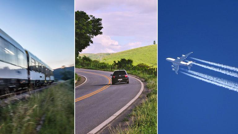 Auto, Flugzeug, Zug - klimafreundlich in den Urlaub