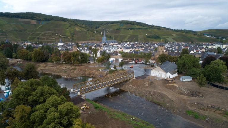 Ahrtorbrücke bei Ahrweiler – errichtet vom Technischen Hilfswerk