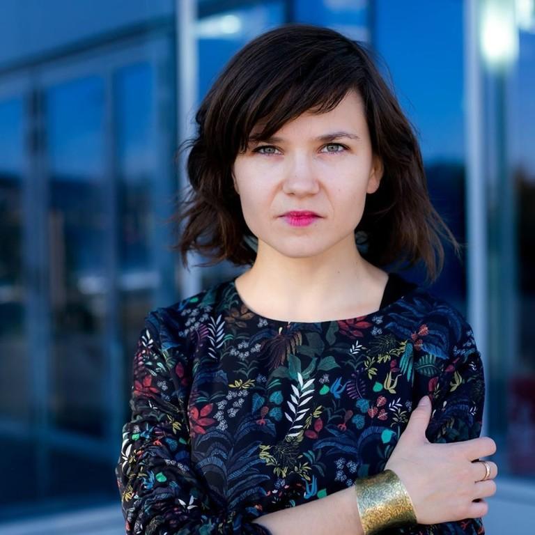 Portrait von polnischer Frauenrechtsaktivistin Aleksandra-Magryta