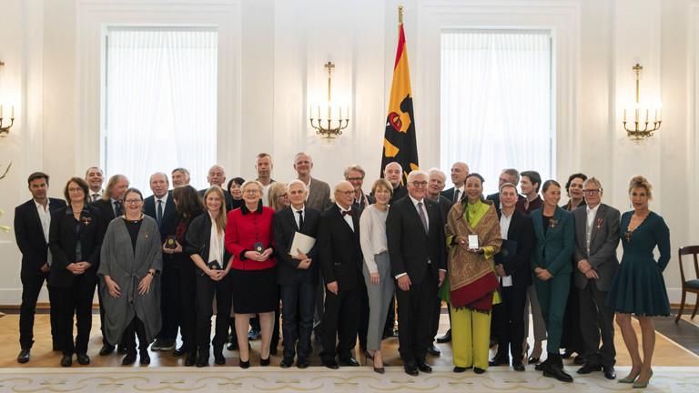 Trägerinnen und Träger des Bundesverdienstordens, die 2018 vom Bundespräsident  persönlich ausgezeichnet wurden