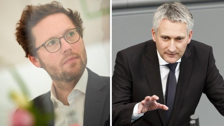 Jan Philipp Albrecht (Bündnis 90/Die Grünen) und Hansjörg Durz (CSU)