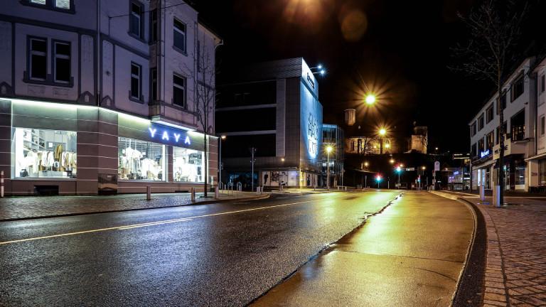Der erste Abend der Ausgangsbeschränkungen in Siegen am 10.04.2021, diese gilt von 21:00 Uhr bis 05:00 Uhr