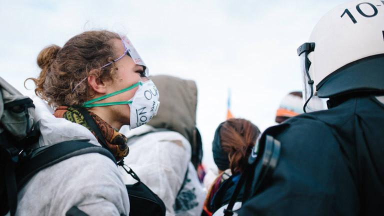 Ende Gelände Aktivist Hambacher Tagebau 27.10.2018