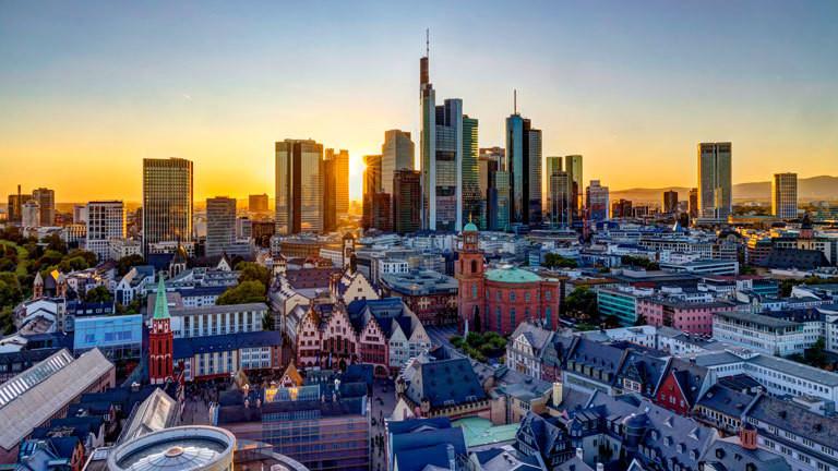 EZB und andere Banken in Frankfurt