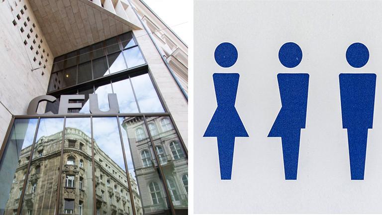 Collage: CEU Budapest, Gender Symbole