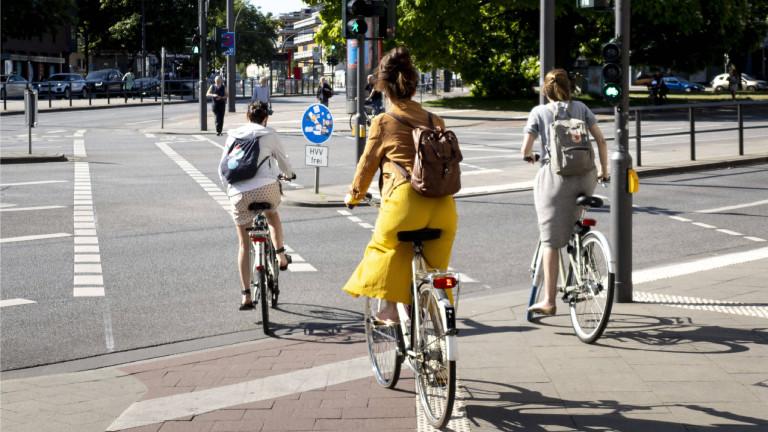 Radfahrende in Hamburg Eimsbüttel im Juni 2020
