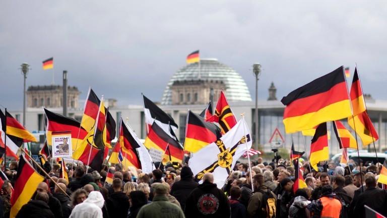 Rechte Demo vor dem Bundestag am 03.10.2019