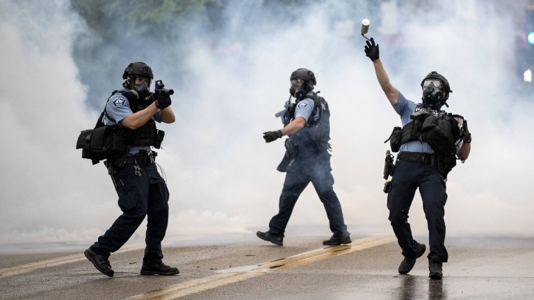 Polizisten in Minneapolis am 26. Mai 2020