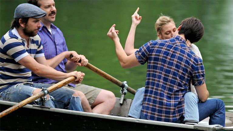 """Drew Barrymore und Justin Long bei den Dreharbeiten zu """"Going The Distance"""""""