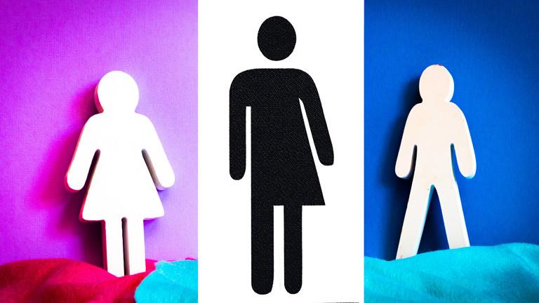 Weiblich, divers, männlich: In der Mitte ein neues Symbol für divers