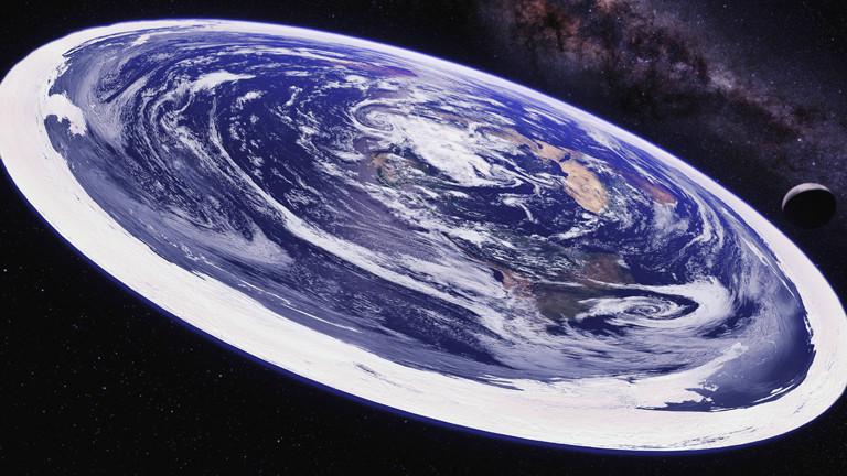 Photoshop macht es möglich: die Erde als Scheibe