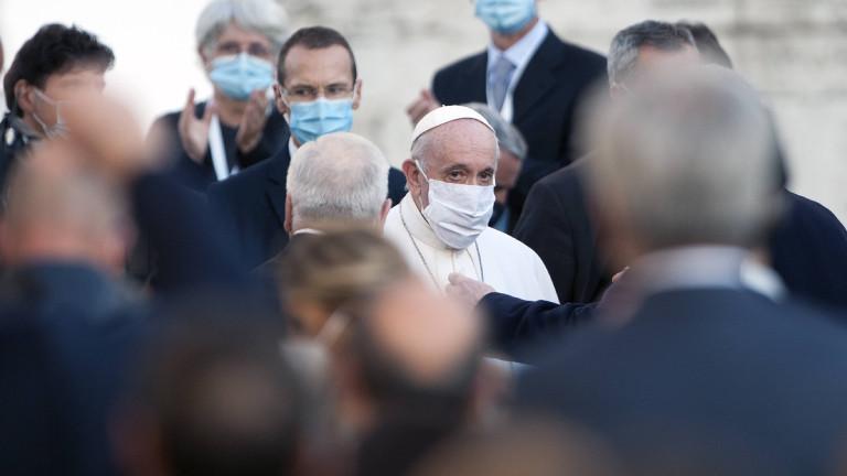 Papst Franziskus am 20. Oktober in Rom
