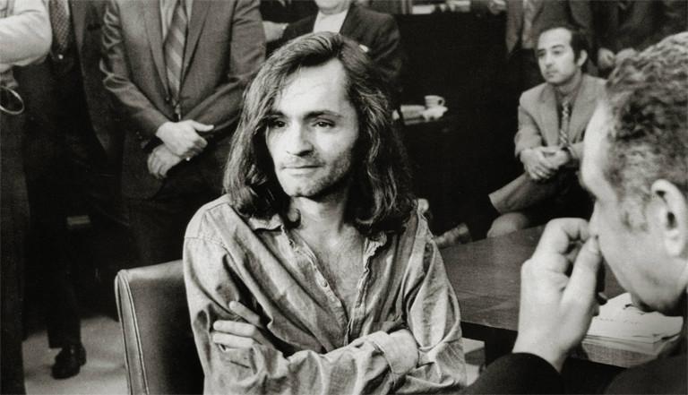 Vor Gericht: der Serienmörder Charles Manson im Jahr 1970