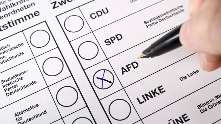 Kreuz auf dem Wahlschein bei AFD