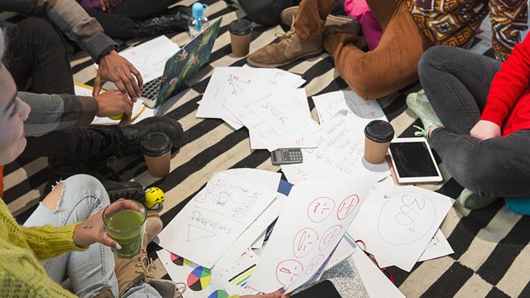 Brainstorming im Kreis